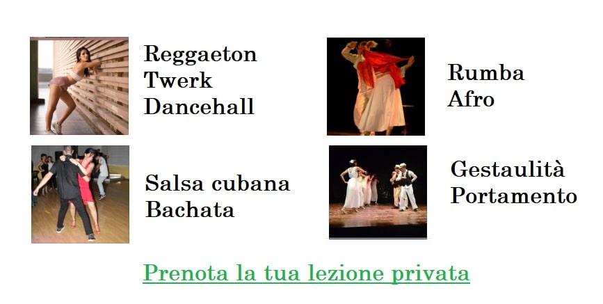 lezioni private ballo, salsa cubana , reggaeton